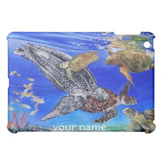 Underwater Sea Turtles Art Personalized iPad Case