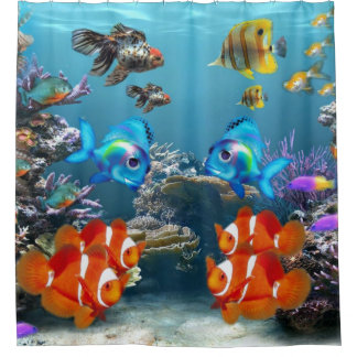 Underwater Sealife Shower Curtain