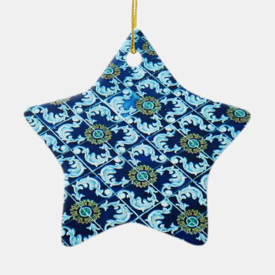 Underwater Spanish Tile Ceramic Ornament