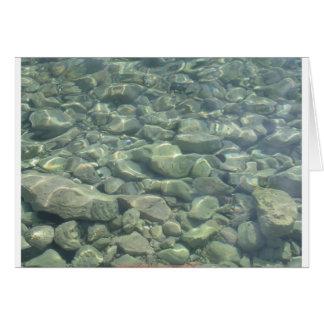 Underwater Stones Card