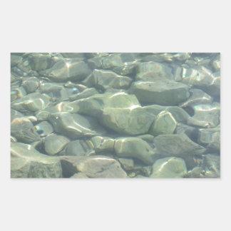Underwater Stones Rectangular Sticker