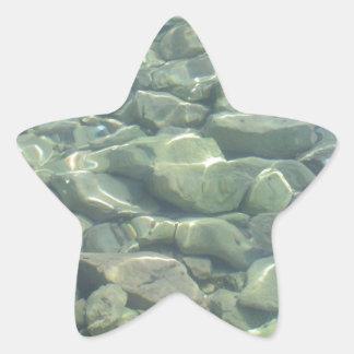 Underwater Stones Star Sticker