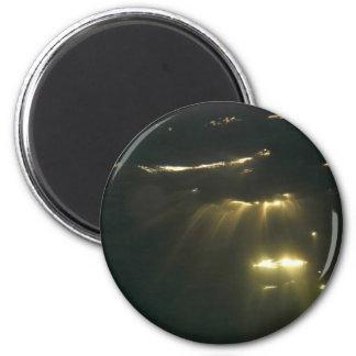 Underwater Sunset 2 Inch Round Magnet