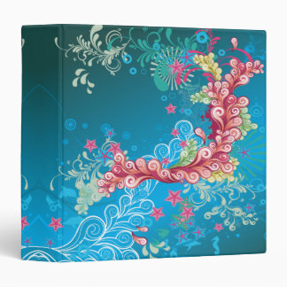 underwater swirl bliss abstract notebook 3 ring binder