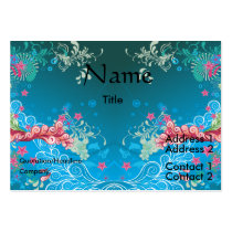 personalize, dooni designs, customize, promotional, blue, abstract, bliss, swil, digital, art, pretty, modern, waves, pink, cool, Business Card with custom graphic design