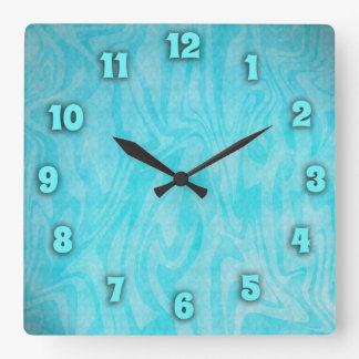 Underwater Time Square Wall Clock