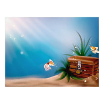 UNDERWATER TREASURE! (goldfish) ~ Card