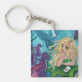 """""""Underwater Treasures"""" mermaid fantasy keychain"""