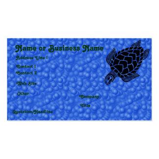Underwater Tribal Sea Turtle Profile Card Business Card