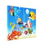 Underwater Tropical Fish Fantasy Custom 2-Panel Canvas Prints