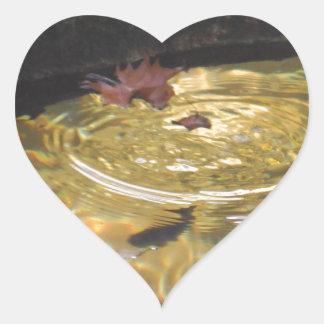Underwater Trout feeding in Smoky Mountain creek Heart Sticker