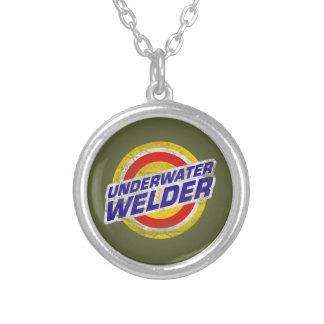 Underwater Welder Round Pendant Necklace