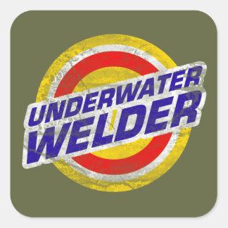 Underwater Welder Square Sticker