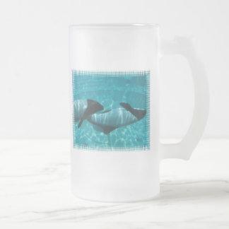 Underwater Whales Beer Mug