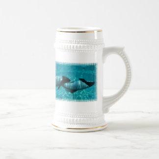 Underwater Whales Beer Stein Mugs