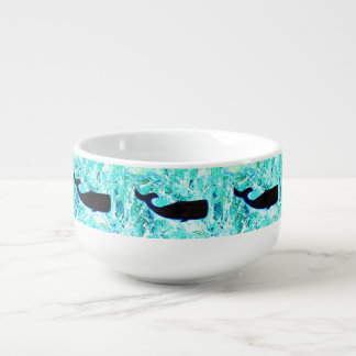 underwater whales swimming Thunder_Cove Soup Mug
