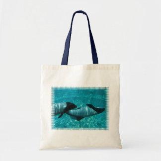 Underwater Whales Tote Bag