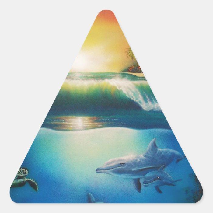 Underwater Wonderland.jpg Triangle Sticker