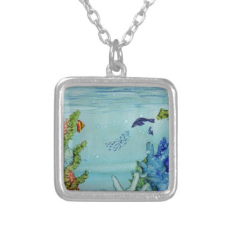 Underwater World #1 Silver Plated Necklace