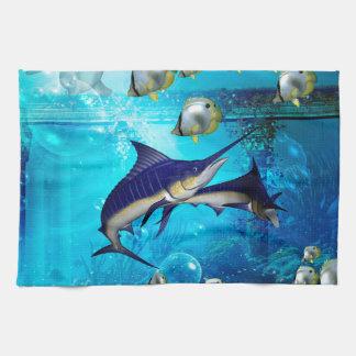 Underwater world hand towel