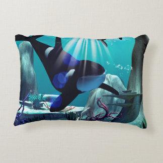 Underwater world accent pillow