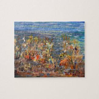 Underwater World Tropical Fish Aquarium Painting Jigsaw Puzzle