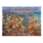 Underwater World Tropical Fish Aquarium Painting Postcard