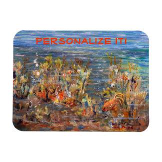 Underwater World Tropical Fish Aquarium Painting Rectangular Photo Magnet