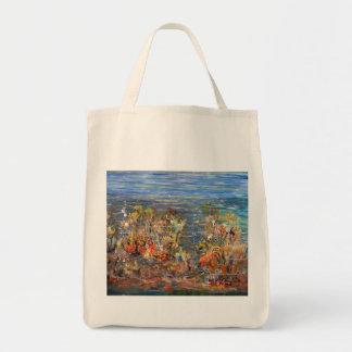 Underwater World Tropical Fish Aquarium Painting Tote Bag