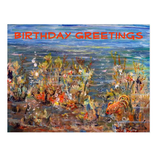 Underwater World Tropical Fish Aquarium Post Card