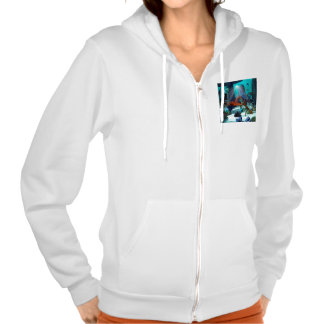Underwater world hooded pullovers