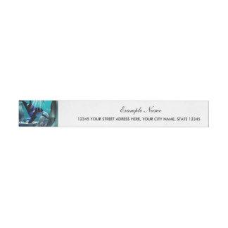 Underwater world wraparound address label