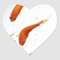underwatter goldfish heart sticker