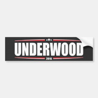 Underwood 2016 (Stars & Stripes - Black) Bumper Sticker