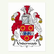 Underwood Family Crest Postcard