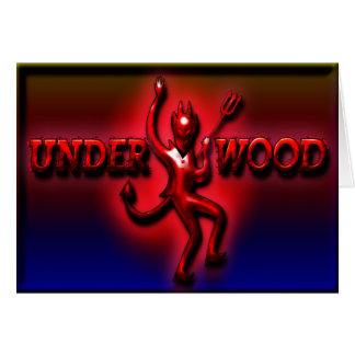 Underwood Ham Red Devil II Greeting C Card