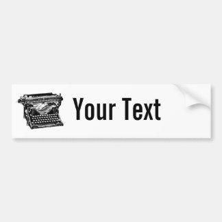 Underwood Typewriter Writer Car Bumper Sticker