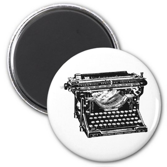 Underwood Typewriter Writer Magnet