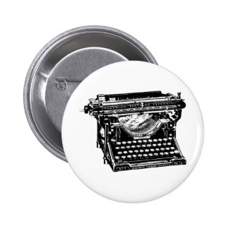 Underwood Typewriter Writer Pinback Button
