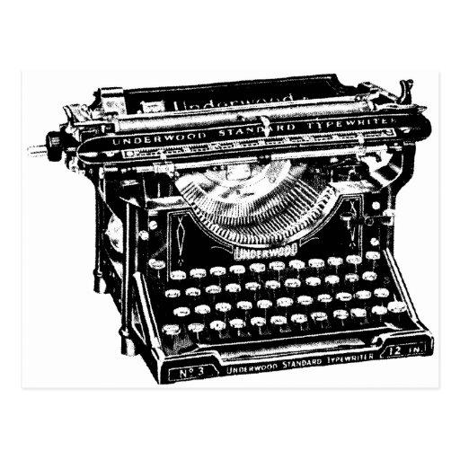 Underwood Typewriter Writer Postcard