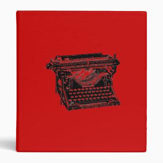 Underwood Typewriter Writer Vinyl Binder
