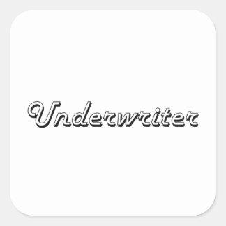 Underwriter Classic Job Design Square Sticker
