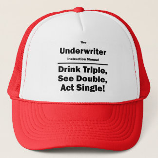 underwriter trucker hat