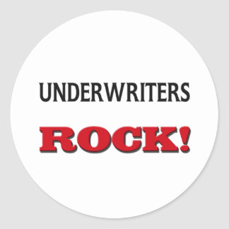 Underwriters Rock Classic Round Sticker