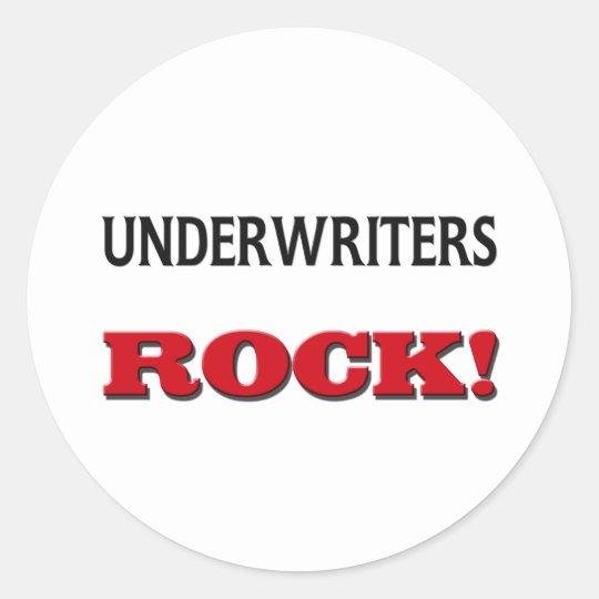 Underwriters Rock Classic Round Sticker