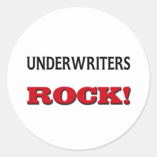 Underwriters Rock Round Sticker