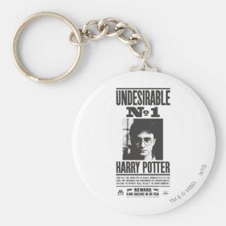 Undesirable No 1 Basic Round Button Keychain
