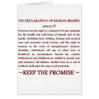 UNDHR Article 25 Card