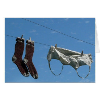 Undies on the Clothes Line Greeting Card