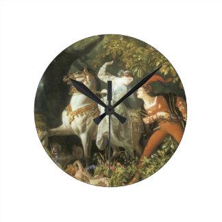 Undine and The Wood Demon - Vintage Fairy Round Clock